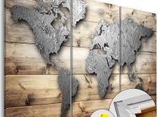 Kép parafán - Doors to the World [Cork Map]